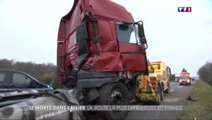 """Collision meurtrière dans l'Allier : """"Un état de choc, de révolte par rapport à cette route"""""""