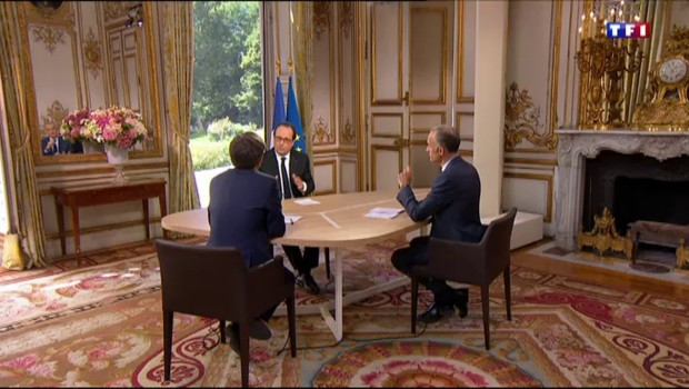 """""""Je pense que ça va mieux"""" : Hollande confiant dans son bilan"""