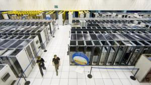 Le centre informatique du LHC, au CERN, à Genève.