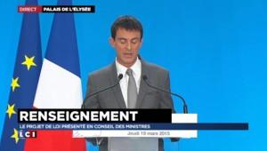 """Loi sur le renseignement : """"Une petite révolution"""", selon Manuel Valls"""