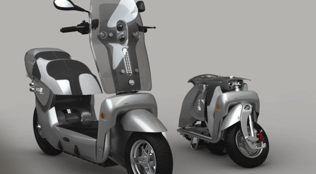 news automoto xor xo2 un scooter lectrique pliable. Black Bedroom Furniture Sets. Home Design Ideas