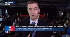 """Sarkozy en meeting à Bordeaux : """"Il a fait des mains et des pieds pour que Juppé soit là"""""""