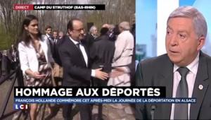 François Hollande entame sa visite de l'ancien camp de concentration de Natzweiler-Struthof