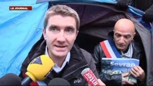 Stéphane Gatignon, maire de Sevran, devant le Palais Bourbon, le 9 novembre 2012.