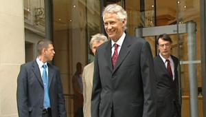 TF1/LCI : Villepin face à la presse après sa mise en examen dans l'affaire Clearstream (27 juillet 2007)