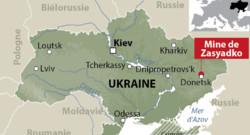 La mine de Zasyadko à Donetsk.