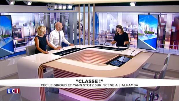"""""""Le petit moment chanté"""" du duo comique Cécile Giroud et Yann Stotz en direct sur LCI"""
