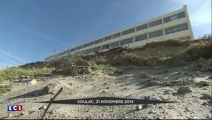 Soulac : un immeuble menacé d'effondrement par l'érosion