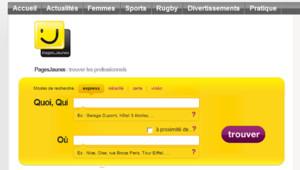 Capture écran du site www.pagesjaunes.fr
