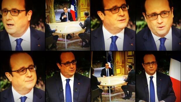François Hollande au 20H de TF1 et France 2 depuis l'Elysée, le 11 février 2016