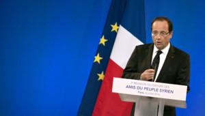 """François Hollande s'exprime à la conférence des """"Amis de la Syrie"""" à Paris, 6/7/12"""