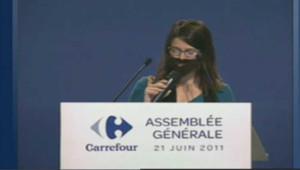 L'AG de Carrefour interrompue par des militantes féministe