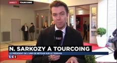 """Nicolas Sarkozy en visite """"de terrain"""" à Tourcoing"""