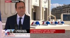 """Panthéon : """"La Résistance à tant de visages, tant de martyrs"""", déclare Hollande"""