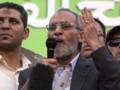 Egypte : Mohamed Badie, le guide suprême des Frères musulmans, le 5/7/13, au Caire