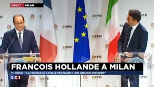 """""""J'ai obligé François à boire un vin pétillant"""" : Quand Renzi et Hollande parlent gastronomie"""