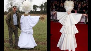 Lady Gaga épouvantail