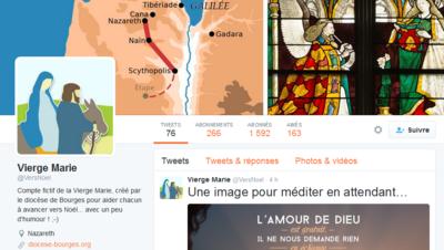 Le compte de la Vierge Marie sur Twitter