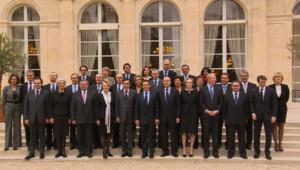 Photo de famille du gouvernement Fillon III