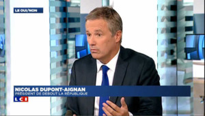 """Dupont-Aignan : """" Comme citoyen, on se doit de respecter la liberté d'expression comme un bloc """""""