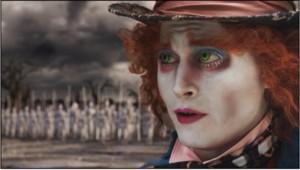 Johnny Depp dans le film Alice aux pays des merveilles de Tim Burton