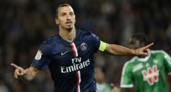 Zlatan Ibrahimovic, triple buteur du PSG face à Saint-Etienne (août 2014)