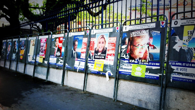 panneaux affiches campagne présidentielle 2012
