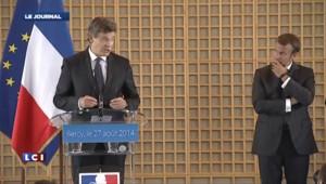 """Passation à Bercy : Emmanuel Macron veut """"rassembler"""""""