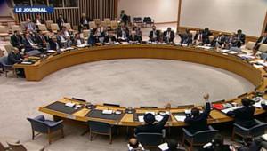 Le Conseil de sécurité de l'ONU en plein vote, le 21 avril 2012.