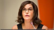 Teri Hatcher à l'ONU le 25 novembre 2014