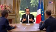 """""""J'ai hérité d'un pays qui avait 40°C de fièvre"""", note François Hollande"""