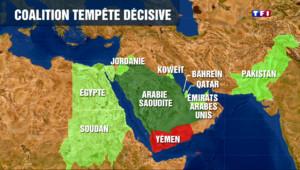 Le 20 heures du 26 mars 2015 : Par peur de la situation au Yémen, l'Arabie saoudite régionalise le conflit - 1726.167
