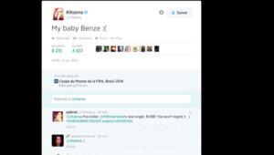 rihanna tweet benzema coupe du monde
