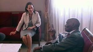 TF1/LCI - Ségolène Royal rencontre le président du Sénégal Abdoulaye Wade, le 26 septembre 2006