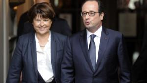 Martine Aubry et François Hollande à Lille le 22 novembre 2014