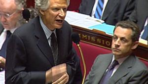 TF1/LCI CPE NDominique de Villepin Nicolas Sarkozy Assemblée nationale