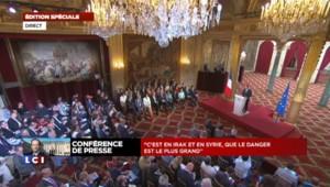 François Hollande amorce sa conférence avec le dossier irakien