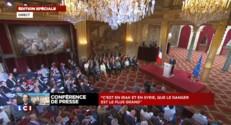 François Hollande amorce sa conférence sur l'Irak