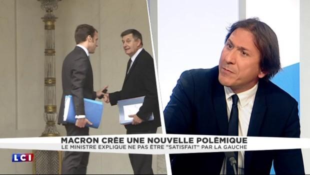 """""""La gauche ne me satisfait pas"""", dit Macron, """"la réciproque est vraie"""", répond un membre du PS"""