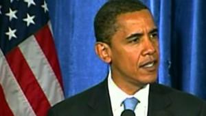 Barack Obama lors de sa première conférence de presse de président des Etats-Unis (7 novembre 2008)