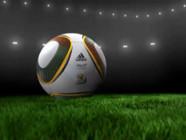 Mondial de football : ballon et pelouse de stade