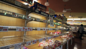 Rayons vides magasin japonais aliments interdits