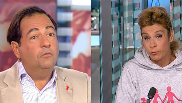 A gauche : l'élu parisien Jean-Luc Romero ; à droite : l'humoriste et lobbyiste catholique Frigide Barjot (montage)