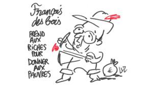 """Les dessins satiriques du dessinateur de """"Charlie Hebdo"""", Luz sont réalisés en direct sur LCI, dans l'émission """"Choisissez votre camp"""", de Valérie Expert."""
