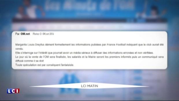 OM : Margarita Louis-Dreyfus dément la vente imminente du club