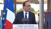 """Drame de Rosny-sous-Bois : """"Des enfants auraient dû faire la rentrée"""" déclare François Hollande"""
