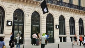 L'Apple Store de Paris Opéra en juillet 2010