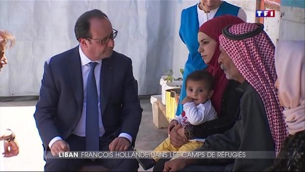 Liban : Hollande à la rencontre de familles bientôt accueillies en France