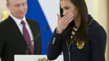 Yelena Isinbayeva et Vladimir Poutine, le 27/7/16