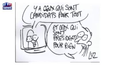 """François Hollande """"en direct avec les Français"""" vu par Luz"""